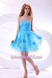 quinceanera damas dresses aqua blue dama dress for quinceanera with strapless beaded and