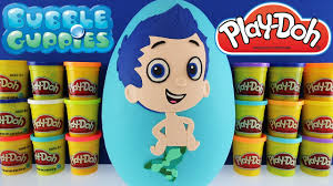 giant gil surprise egg play doh nick jr bubble guppies toys paw