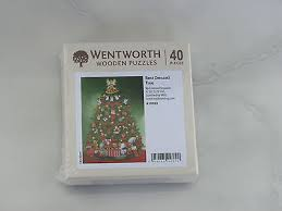 wooden 158752 wentworth wooden puzzle 40 pieces best dressed tree