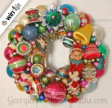 enter to win a vintage ornament wreath from peachez