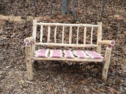 Rustic Patio Chairs 4 Foot Rustic Log Adirondack Style Patio Bench Rustic Porch