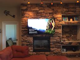 tv over fireplace installation in colorado springs
