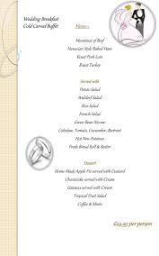 ppt wedding breakfast cold carved buffet menu 1 powerpoint