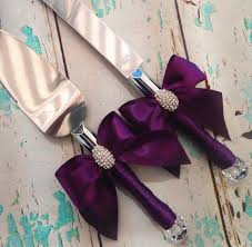 wedding cake knife your color wedding cake serving set plum wedding knife set