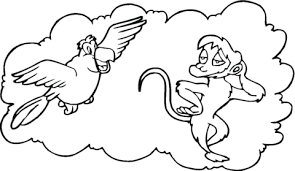 abu monkey coloring free printable coloring pages
