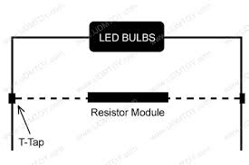 install led load resistors for h7 led bulbs on mercedes w204 c class