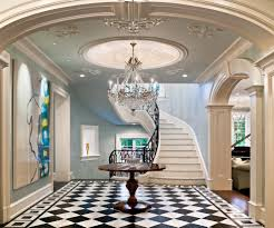 foyer molding ideas staircase traditional with pedestal table