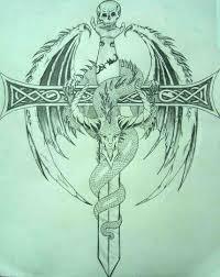dragon dream catcher dragon with sword tattoo design tattoobite com
