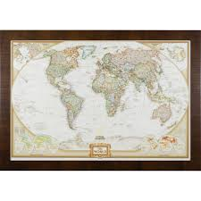 World Map Pins by Wayfarer Executive World Push Pin Travel Map Craig Frames