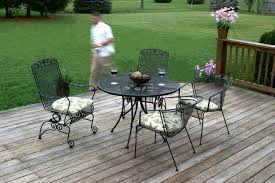 Wrought Iron Patio Sets On Sale by Charming Black Wrought Iron Patio Table And Chairs 98 For Cheap