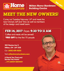 new owner meet and greet milton home hardware building centre