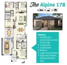 Narrow Block Floor Plans Barton 191 Floor Plan Suits A Narrow Block Of Land Home Ideas