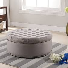 Tufted Cocktail Ottoman Linen Tufted Cocktail Ottoman House Plan And Ottoman Tufted