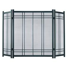 Fireplace Metal Screen by Pleasant Hearth Preston Vintage Iron Steel 3 Panel Fireplace