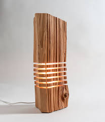 modern wood sliced ls made from real firewood show the of simple