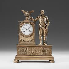 Mantel Clock Plans A French Empire Ormolu Mantel Clock With Figure Of George