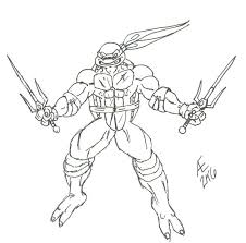 ninja turtle raphael drawing