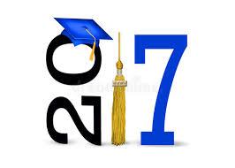 blue graduation cap blue graduation cap for 2017 stock illustration illustration of