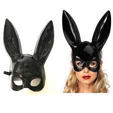 bunny mask white and black rabbit women mask masquerade bunny rabbit mask