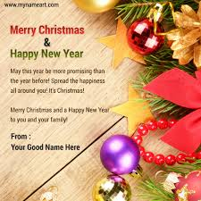 write name on happy merry 2015 pictures wishes