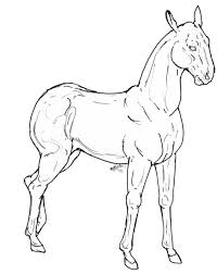 free use horse template by brbarkham on deviantart