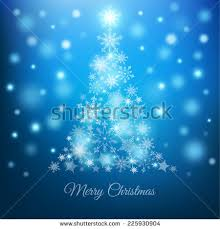 magic tree snowflakes on blue stock vector 225930904