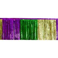 mardi gras material 2 ply fringe drape metallic mardi gras 10 x 15 77132