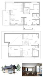 small efficient home plans ideal affordable small house plan to tiny lot high ceiling in the