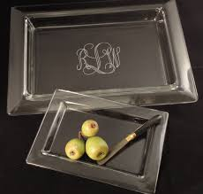 monogrammed serving platters custom laser engravers glass
