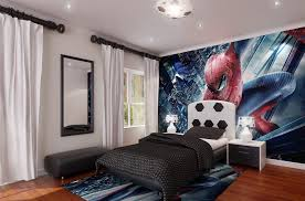 bedroom charming boys bedroom furniture with spiderman wall