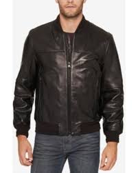marc york deal on marc york s summit leather bomber jacket