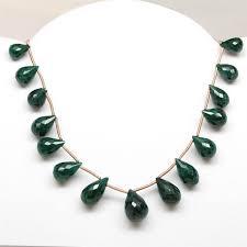 emerald drop cut top drilled faceted emerald tear drops