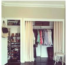 Shower Curtain For Closet Door How To Replace Closet Doors With Curtains