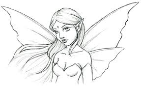 tinkerbell sketches kids coloring