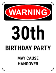 funny 30th birthday gifts