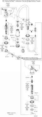 moen single handle kitchen faucet parts diagram bathroom sink faucet parts