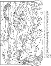 beautiful mermaid coloring pages 25 best mermaid coloring pages for adults images on
