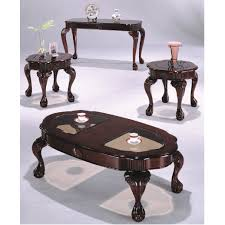 cherry end tables queen anne cherry queen ann coffee and end table set with claw feet