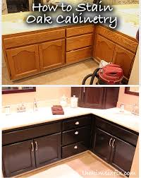 how to restain wood cabinets darker how to stain oak cabinetry tutorial tutorials house and kitchens
