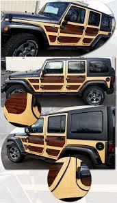 jeep wrangler graphics jeep wrangler unlimited wood panel graphics kit 1 woody moab