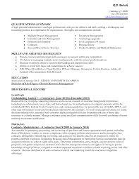 Resume Summary Of Qualifications Example Career Summary For Administrative Assistant Resume Free Resume