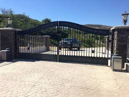 iron driveway gates installation repair los angeles wrought iron gates