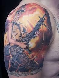 with a gun tattoos pm
