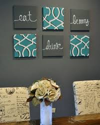eat in kitchen decorating ideas eat drink be merry wall pack of 6 canvas wall hangings