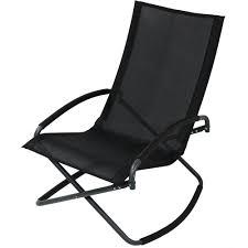 sunnydaze folding rocking lounge chair outdoor living