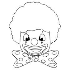 10 free printable funny clown coloring pages