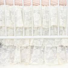 White Lace Shower Curtain by Evie U0027s Vintage Lace Baby Bedding Caden Lane