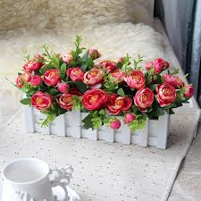 plastic flowers 2017 flowers fence flower artificial flower set fence