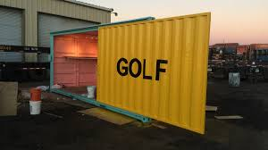 golf wang shipping container booth ipme