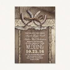 country themed wedding country themed wedding invites with horseshoe rustic barn wood